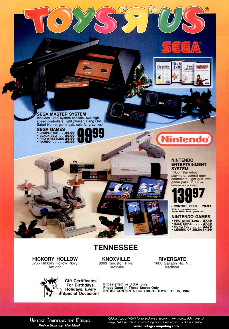 Toys R Us Nintendo and Sega Scan
