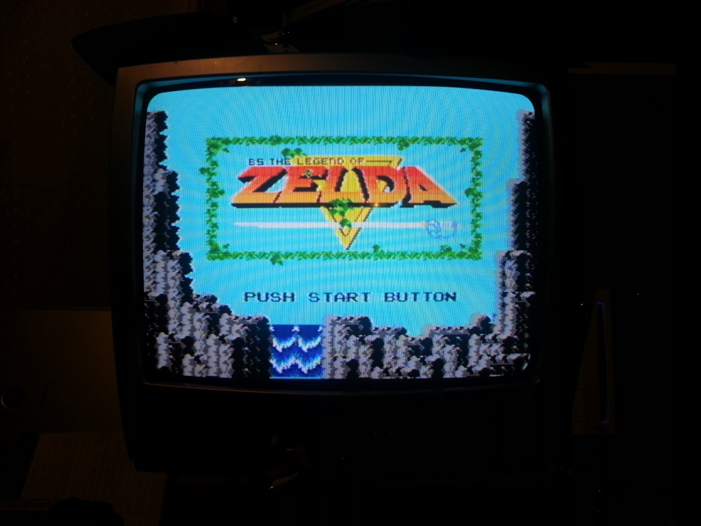 The BS Legend of Zelda Title Screen