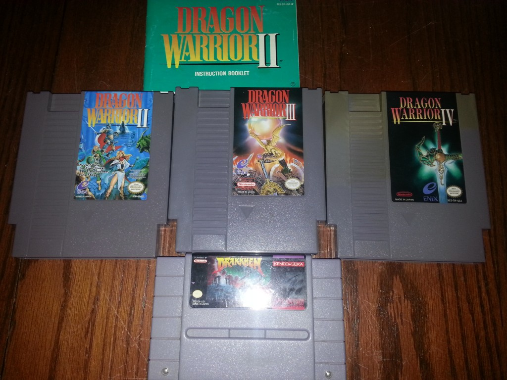 The Dragon Warrior series for the NES is complette