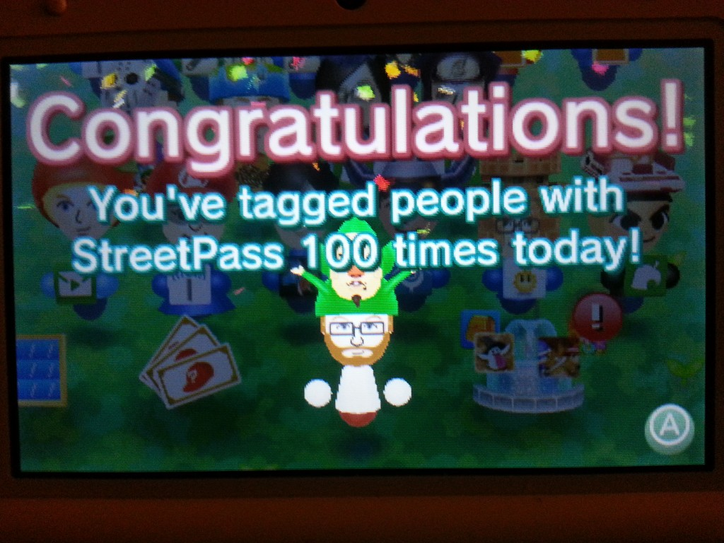 100 streetpass tags in 1 day