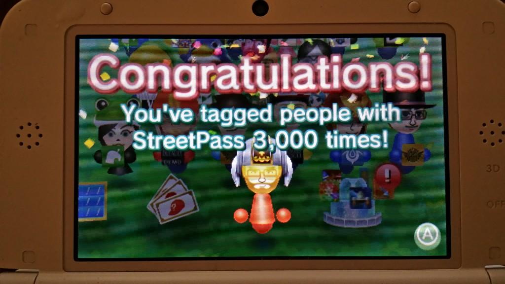 3000th Streetpass