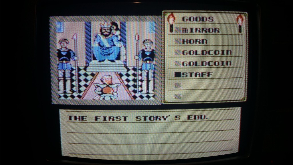 Ending of Shadowgate for the NES
