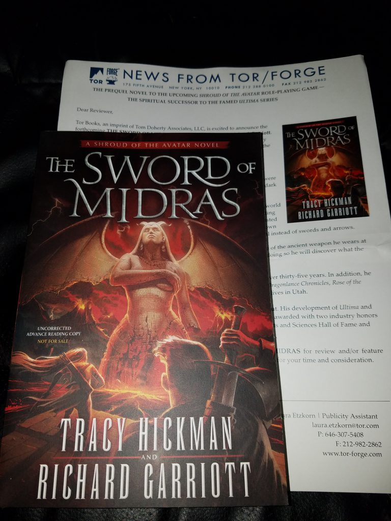 The Sword of Midras: A Shroud of the Avatar Novel preview copy